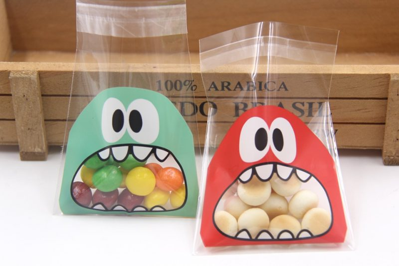 Cartoon Monsters Cookie / Candy Bag