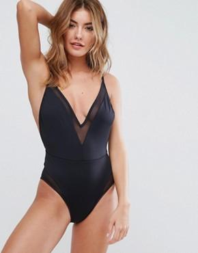 Woman in palm print bikini from ASOS