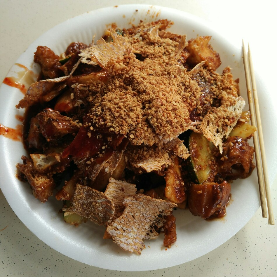 rojak fruits ground peanut toss salad singapore malaysia street hawker food