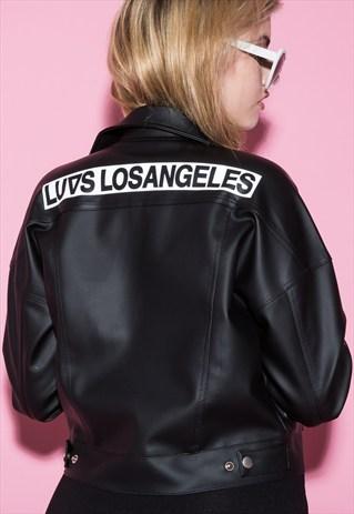 ASOS LUVS Dee leather jacket