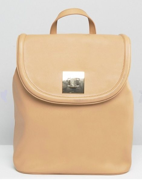 Camel backpack from ASOS