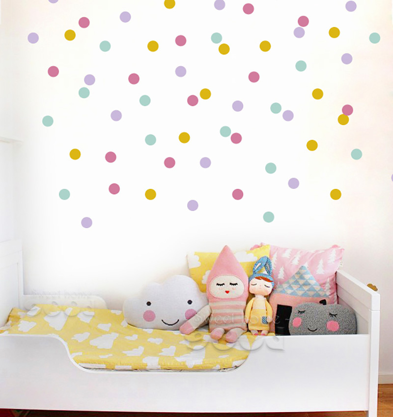 Mix Color polka Dots Wall Sticker wall decal