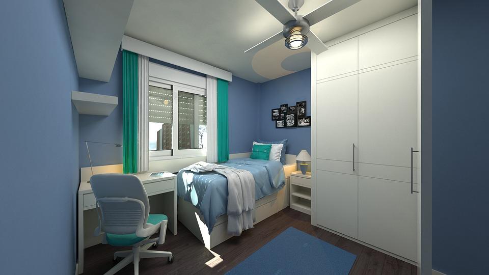 bedroom bright color