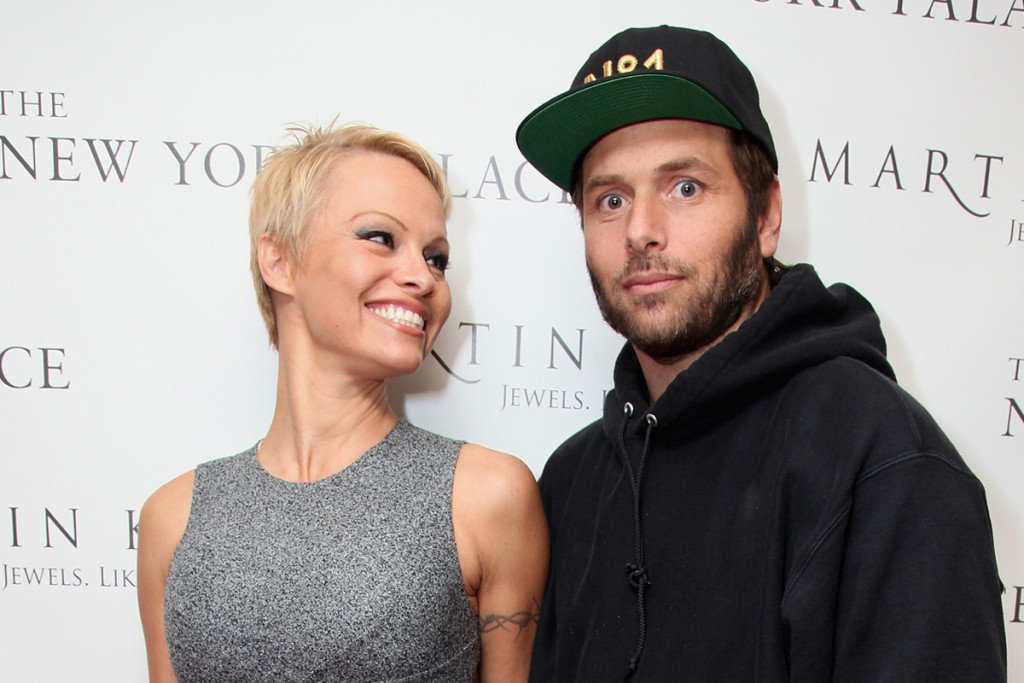 NEW YORK, NY - NOVEMBER 13: (L-R)Pamela Anderson and Rick Salomon attend The Martin Katz Jewel Suite Debuts At The New York Palace Hotel on November 13, 2013 in New York City. (Photo by Donald Bowers/Getty Images for The New York Palace Hotel)