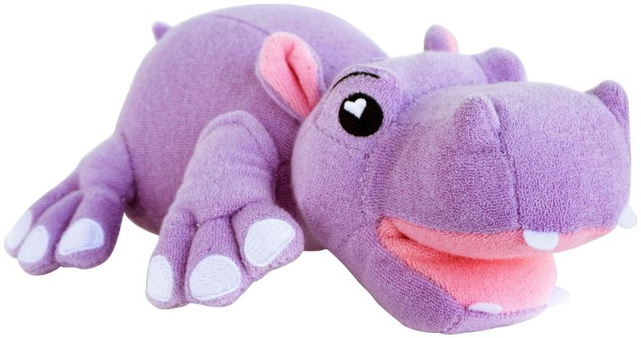 Soapsox Animal Antimicrobial Terry Cloth Bath Sponge - Harper The Hippo