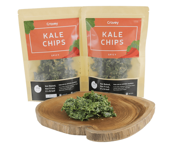 Cravery Kale Chips Spicy Flavour