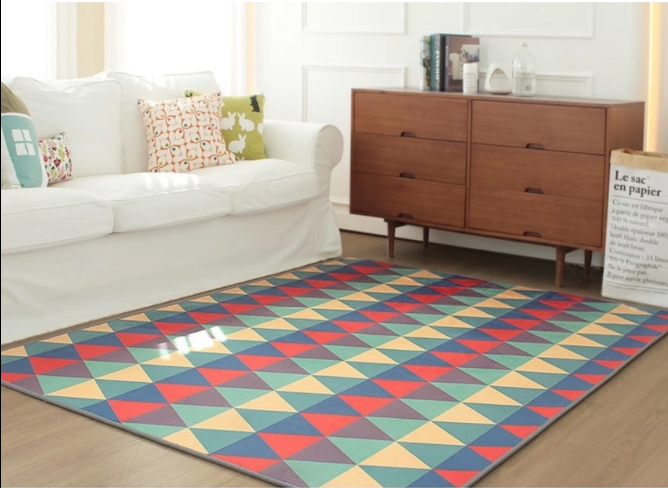 New Premium Rugs For Bedroom Carpet Colorful Triangle