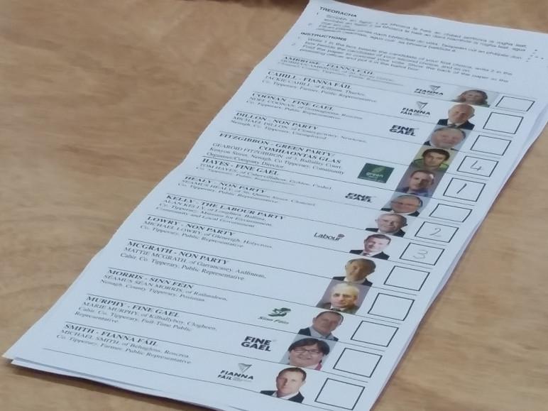 Boleh memilih beberapa kandidat di Irlandia