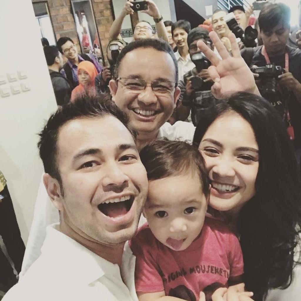 Raffi Ahmad dan Nagita Slavina mendukung Anies