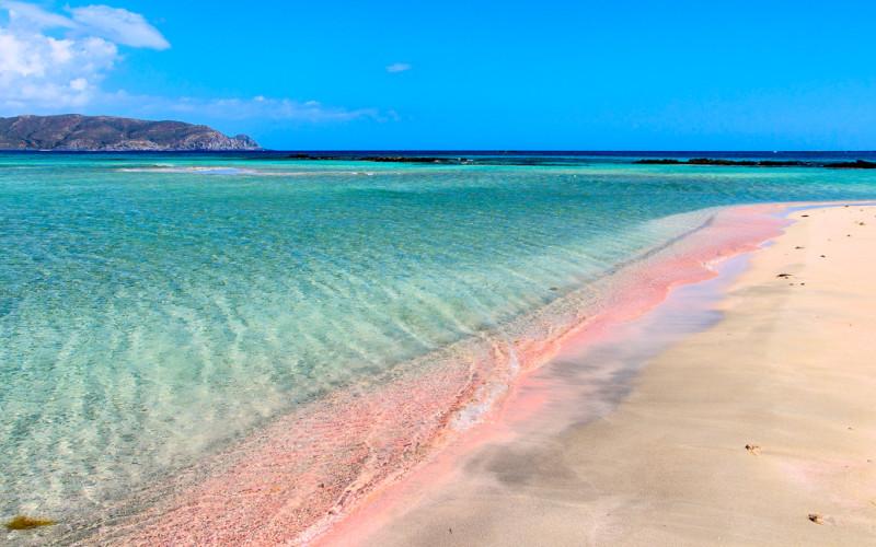 pantai elafonisi pantai pink