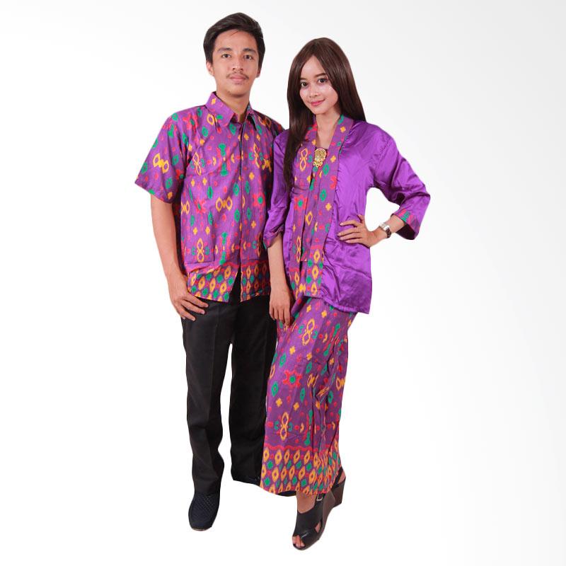 Batik Putri Ayu Solo SRG45 Sarimbit Batik Couple Ayuna Baju Batik - Ungu