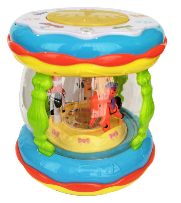 WONDERLAND MERRY GO ROUND MUSIC DRUM MAINAN BAYI