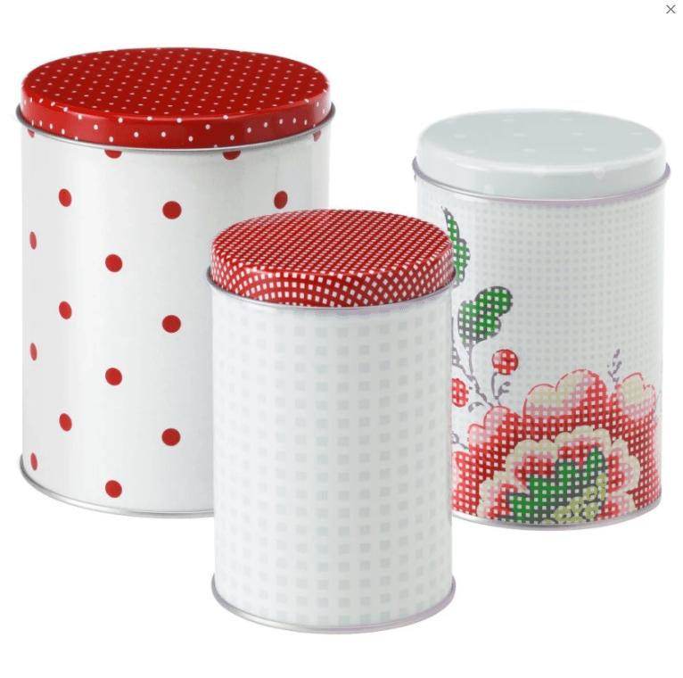 Ikea Toples Kaleng Cantik 3 Set Bahan Baja