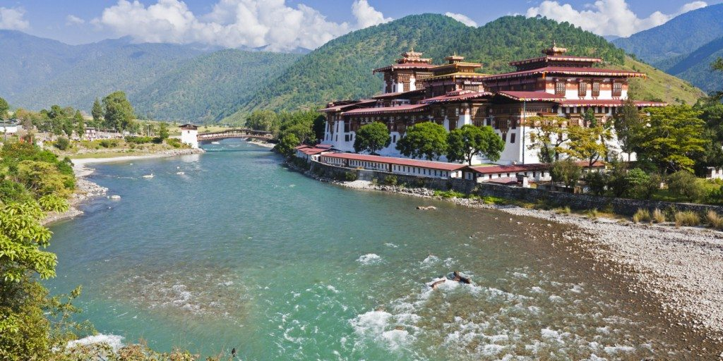 Punakha Dzong, at the confluence of two rivers, was the venue of the Fifth King of Bhutans Royal Wedding.