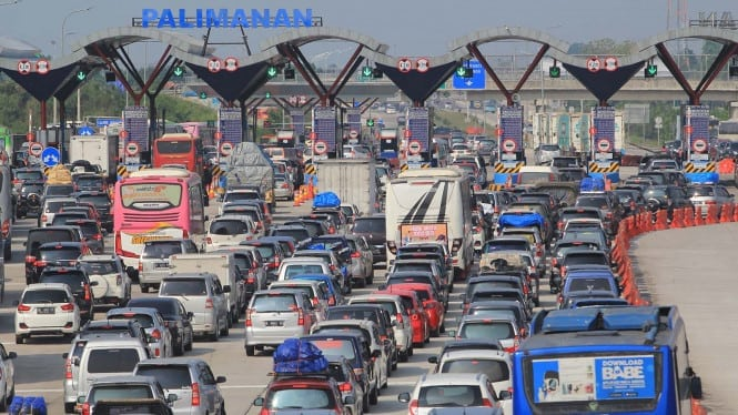 kemacetan jelang lebaran