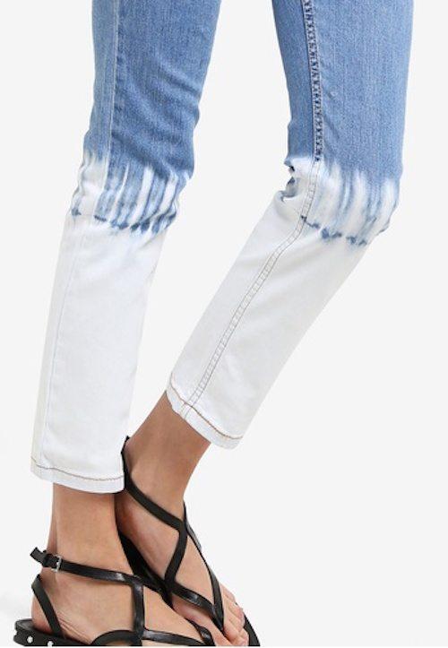 Mango - Tie-Dye Skinny Jeans