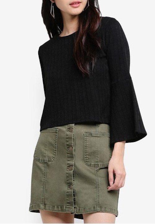 ZALORA - A Line Mini Skirt With Pockets