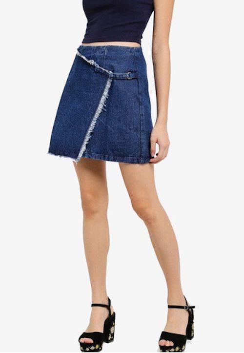 ZALORA - Denim Wrap Skirt