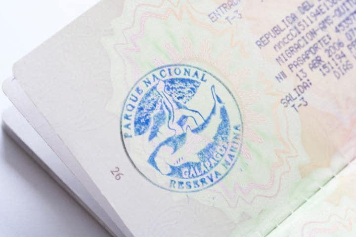 galapagos passport stamp