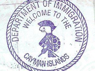 kepulauan cayman cap paspor