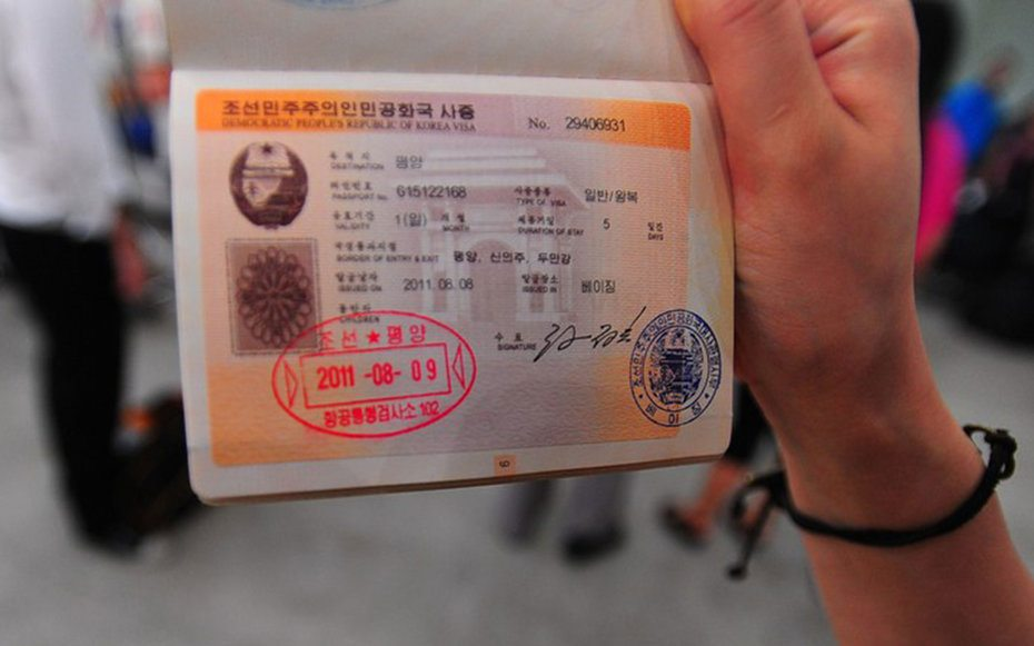 kora utara cap paspor