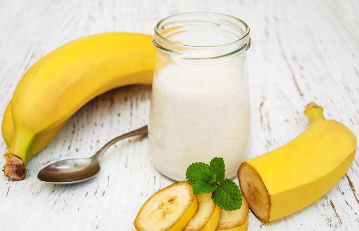 pisang dan yogurt rambut lurus