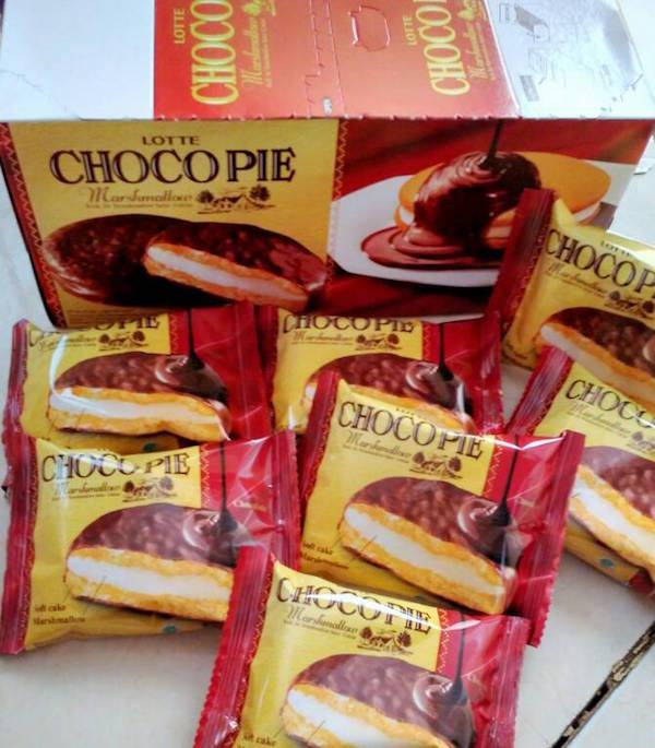 lotte choco pie oleh-oleh khas korea