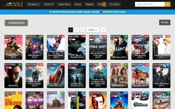 Top 20 websites to stream and watch movie online for free.