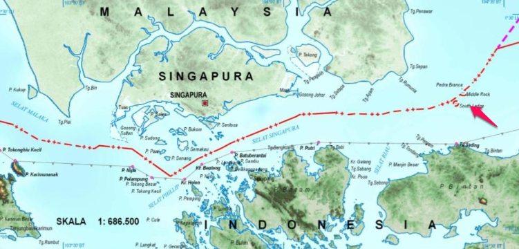 5 Perbedaan Peta Indonesia Rilis Batas Laut Teritorial Perbatasan Selat