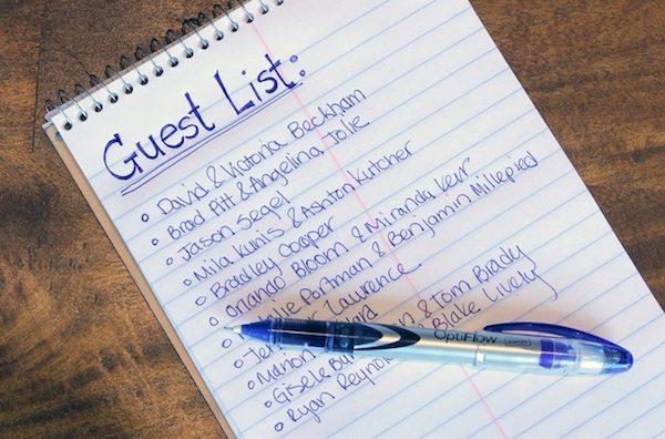 Buat Daftar Undangan Dan Batasi Tamumu Tips Pernikahan