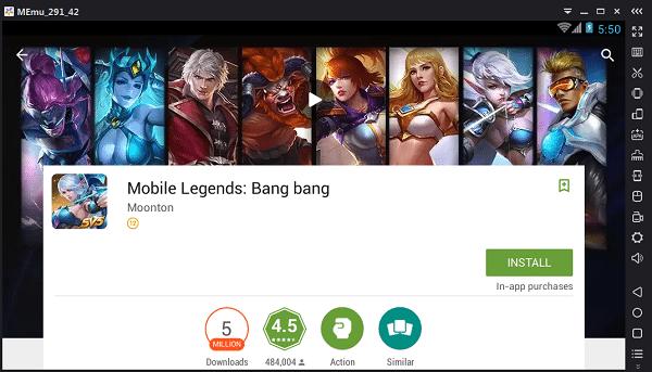 mobile legends memu play