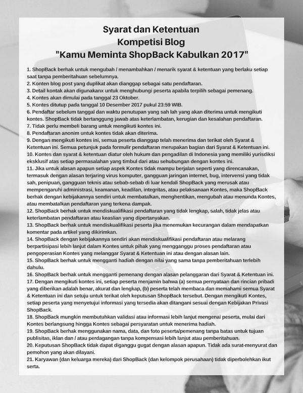 Peraturan Lomba Blog