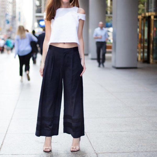 tips memadukan celana kulot hitam