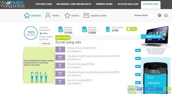 survey online dibayar
