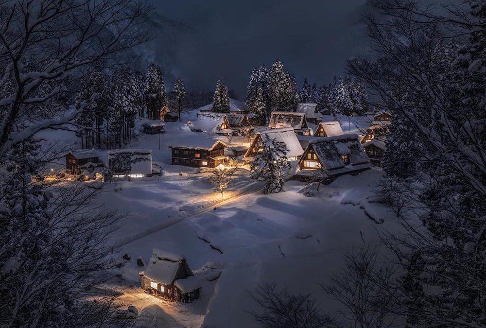 25 Potret Keindahan Jepang di Musim Dingin Karya Nagaoshi