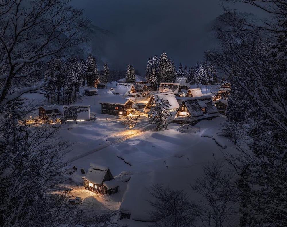 Keindahan Jepang saat musim dingin