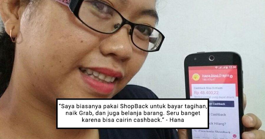 Hana Novi Pakai ShopBack untuk Bayar Tagihan, Naik Grab, dan Belanja Barang