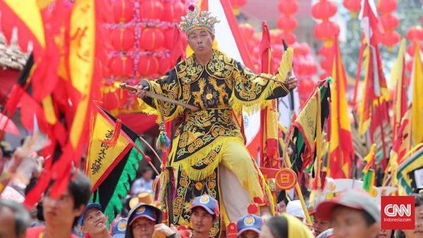 Tatung perayaan Imlek di Singkawang