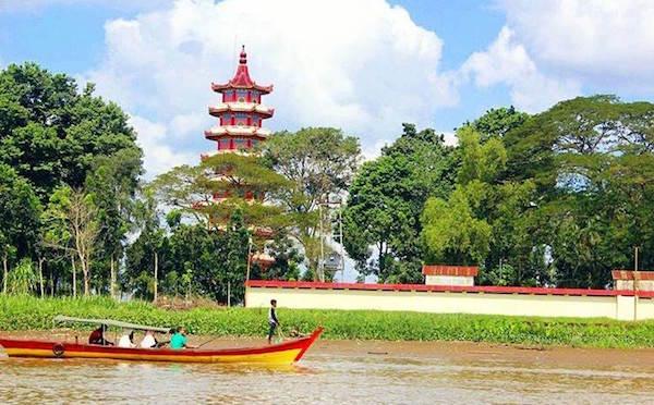 Pulau Kemaro menjadi pusat perayaan Imlek di Palembang