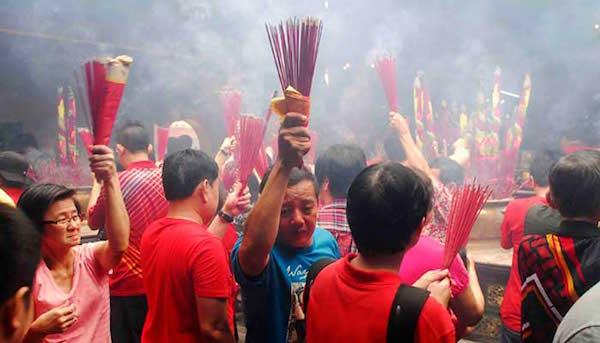 Perayaan Imlek meriah di Vihara Dharma Bhakti, Jakarta
