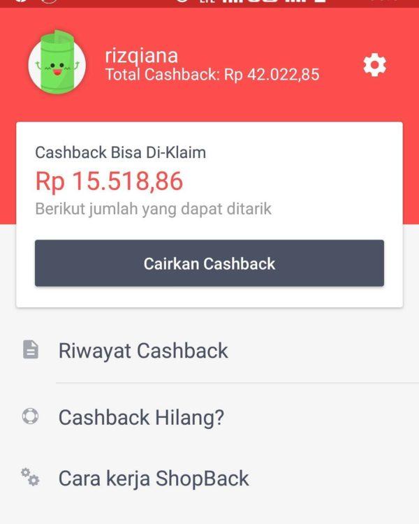 belanja pakai shopback dapat cashback