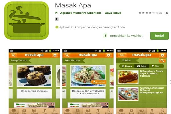 aplikasi memasak