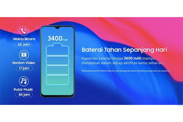 Samsung M10 baterai tahan seharian