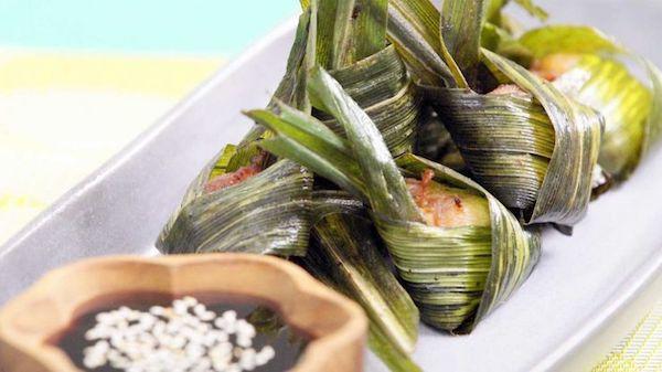 makanan thailand gai hor bai toey