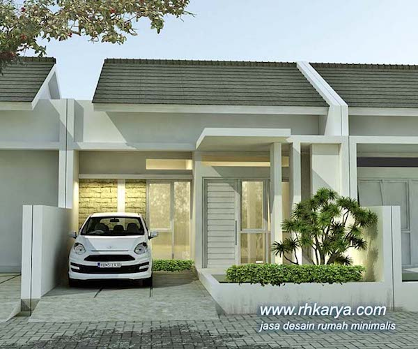 desain rumah minimalis putih