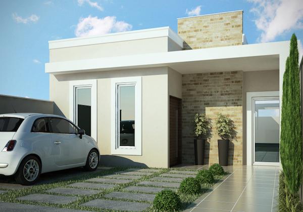 rumah minimalis atap cor