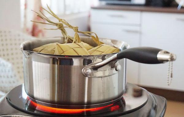 cara masak ketupat pakai panci