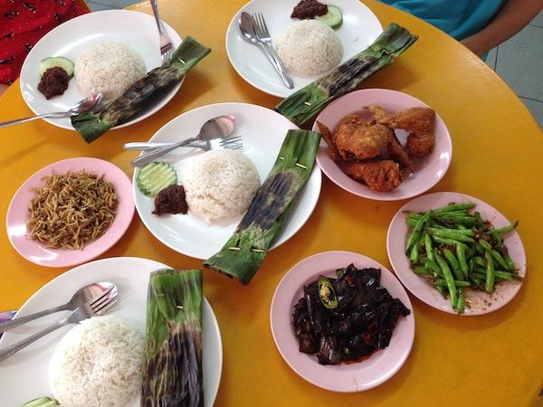 nasi lemak ponggol