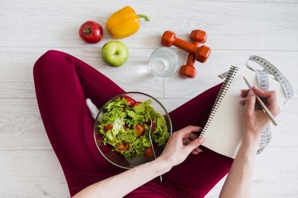 olahraga dan makan sehat