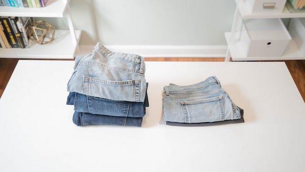 melipat celana pendek